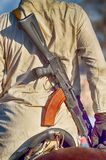 Afghan soldier with a gun. This is a mercenary soldier from ISIS royalty free stock images