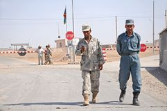 Afghan Soldiers on the Border Royalty Free Stock Photos