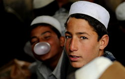 Afghan students Stock Photography