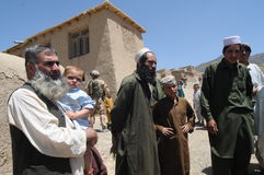 In the Afghan village. Villagers in the Logar Province, Afghanistan (summer 2011 Royalty Free Stock Photo