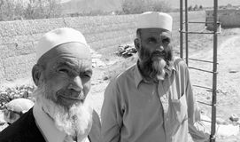 Afghan workers royalty free stock photo