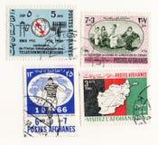 Afghanes 1965 timbres-poste réglés Images libres de droits