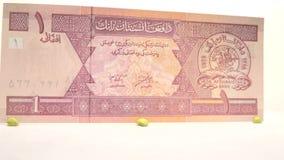1 Afghani Bill stock video footage