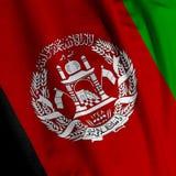 afghani closeupflagga Royaltyfri Fotografi