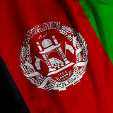 Afghani Flag Closeup Royalty Free Stock Photography