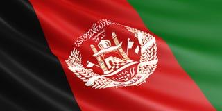 Afghanische Flagge, die im Wind flattert Lizenzfreie Abbildung