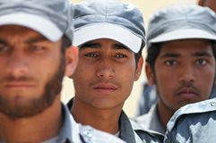 Afghanische Polizisten 2 Lizenzfreies Stockfoto