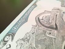 Afghanischer Afghani, Afghanistan-Banknote Lizenzfreie Stockbilder