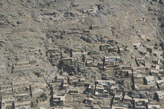 Afghanistan by air. On the flight from Kabul to Mazar e Sharif Royalty Free Stock Photography
