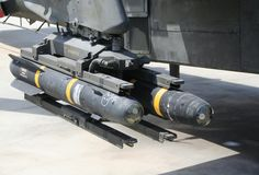 Afghanistan bad news waiting to strike. Hellfire missile waiting ready to go Stock Photos