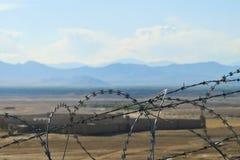 afghanistan bak landsstaket Arkivfoton