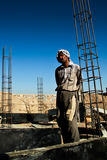 Afghanistan construction worker Royalty Free Stock Photography