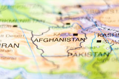 Afghanistan country on map Royalty Free Stock Images