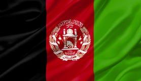 Afghanistan fahnenschwenkend mit dem Wind, Illustration 3D Stockfotos
