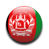 Afghanistan flag. In the style of a ball Royalty Free Stock Photography