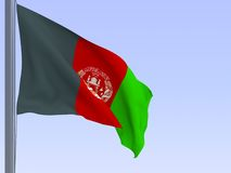 Afghanistan flag Royalty Free Stock Images