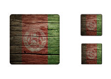 Afghanistan Flag Buttons 2 Stock Photo