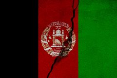 Afghanistan   FLAG PAINTED ON CRACKED WALL NICE. Afghanistan   FLAG PAINTED ON CRACKED WALL Royalty Free Stock Photos
