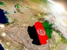 Afghanistan with flag in rising sun Royalty Free Stock Image