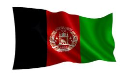 Afghanistan flag.  A series of `Flags of the world.`   The country - Afghanistan flag. Afghanistan flag.   A series of `Flags of the world.`   The country Stock Photo