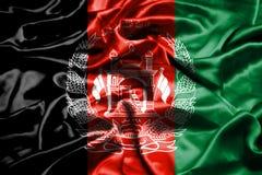 Afghanistan flag waving in the wind. Afghanistan flag waving in the wind stock illustration