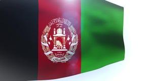 Afghanistan flag waving wind. Video stock video