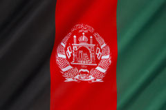 afghanistan flagga Arkivfoto