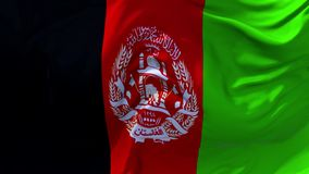 03 Afghanistan flagga som vinkar i fortlöpande sömlös öglasbakgrund för vind royaltyfri illustrationer