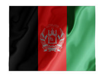 Afghanistan flutter. Fluttering image of the Afghan national flag Royalty Free Stock Photography