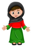 Afghanistan girl in costume Stock Photo