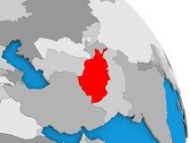 Afghanistan on globe Stock Photos