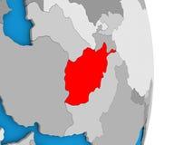 Afghanistan on globe Royalty Free Stock Photos