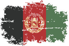 Afghanistan grunge flag. Vector illustration. Stock Photography