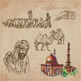Afghanistan. Hand drawn vector pack no.3 Royalty Free Stock Image