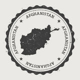 Afghanistan hipster round rubber stamp with. Royalty Free Stock Photos