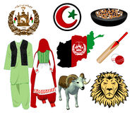 Afghanistan icons Stock Images
