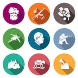 Afghanistan Icons Set. Vector Illustration. Stock Photography