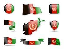 Afghanistan kennzeichnet Sammlung Stockbild