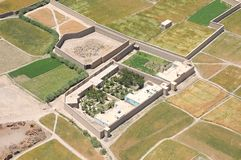 Afghanistan - Luftaufnahme Stockfotografie