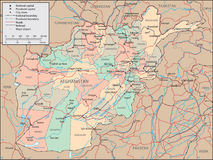 Afghanistan map Royalty Free Stock Photos
