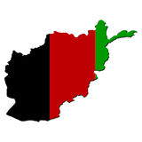 Afghanistan map flag Stock Images