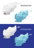 Afghanistan map in geometric polygonal style. Abstract gems triangle. Afghanistan mesh. Stock Photo