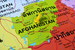 Afghanistan map Stock Photography