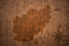Afghanistan map on vintage paper background Royalty Free Stock Photography