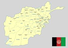 Afghanistan map - cdr format Stock Photography