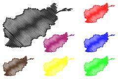 Afghanistan map vector Stock Photos