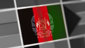 Afghanistan national flag of country. flag on the display, a digital moire effect. royalty free stock images