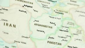 Afghanistan op een kaart met defocus stock illustratie