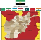 Afghanistan and provinces. royalty free illustration