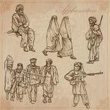 Afghanistan Ręka rysująca wektor paczka żadny Obraz Royalty Free